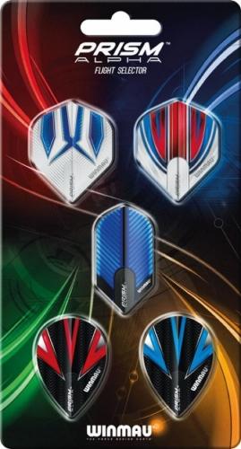 Набор из 5-ти комплектов оперений Winmau Prism Alpha Collection 8120