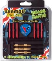 Набор из дротиков и аксессуаров Winmau Brass steeltip 23gr
