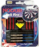 Набор из дротиков Nodor Hell-Fire steeltip 22gr и аксессуаров – для опытных